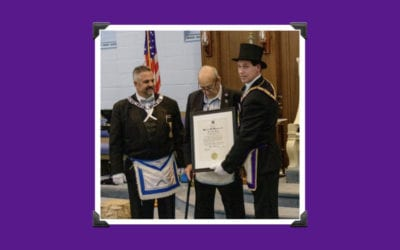 Bro. Charles E. Rouleau Receives 50 Year Past Masters Award