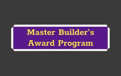Master Builder's Award Program