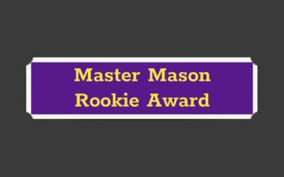 Master Mason Rookie Award Program