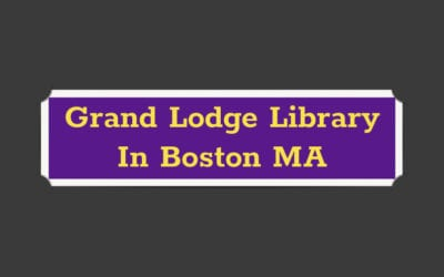 Grand Lodge Library in Boston MA