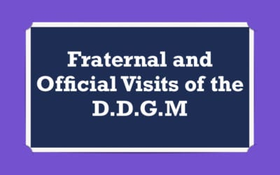 Fraternal and Official Visits of the DDGM